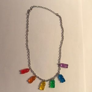 Justice gummy bear charm necklace